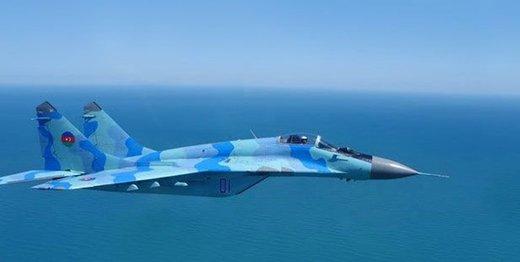 جنگنده آذربایجان در دریای خزر سقوط کرد