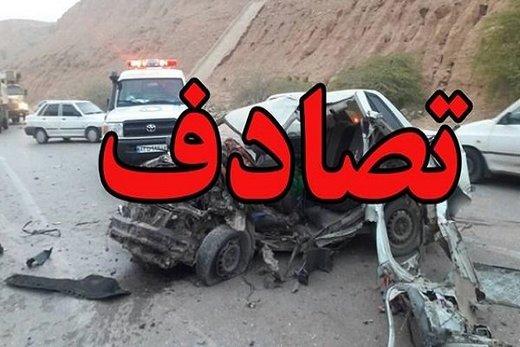 تصادف در البرز ۵ نفر را روانه بیمارستان کرد