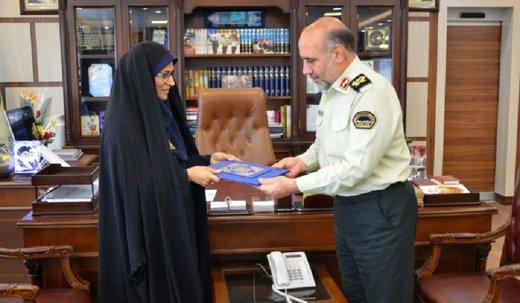 قدردانی سردار رحیمی از عملکرد بهنگام پلیس زن در ماجرای مترو دروازه دولت