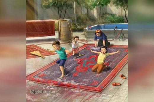 فیلم | نوستالژی کودکی دهه ۶۰ در نقاشیهای علی امیری