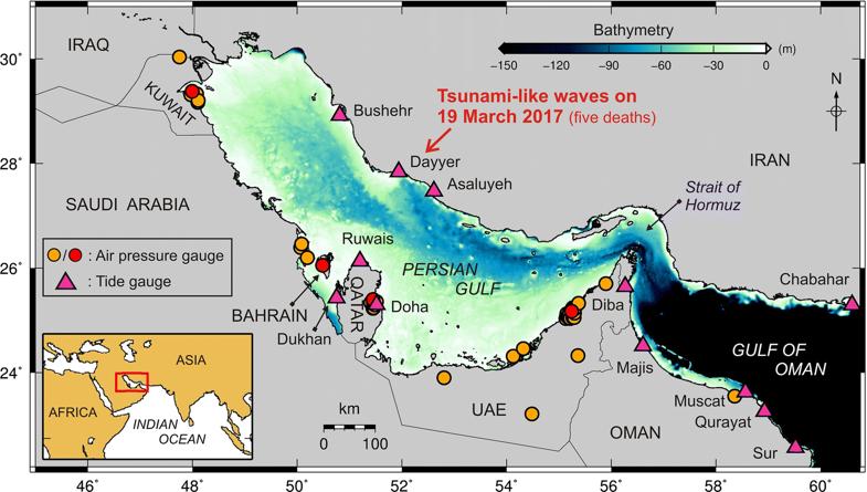سونامیهای ۷ متری در راه خلیج فارس