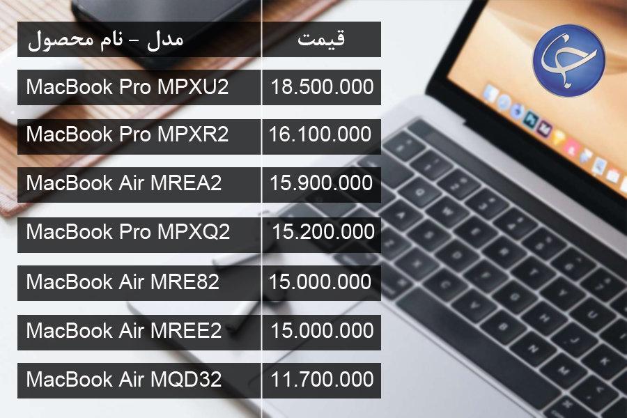 آخرین قیمت انواع لپ تاپ در بازار (تاریخ 7 مرداد) +جدول