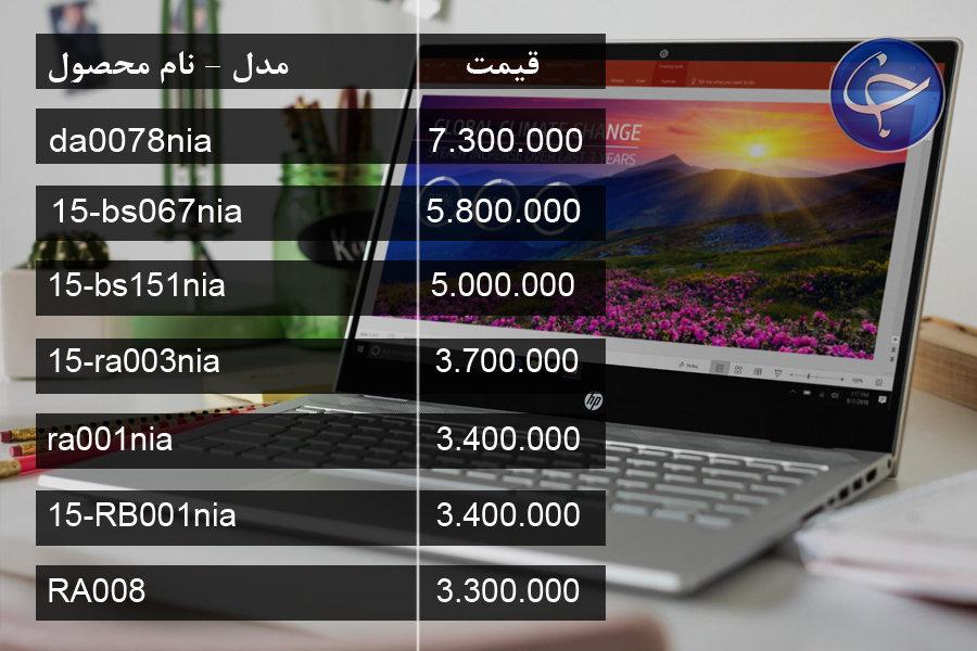آخرین قیمت انواع لپ تاپ در بازار (تاریخ ۷ مرداد) +جدول