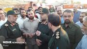 بازدید رئیس سازمان بسیج مستضعفین از مناطق سیل زده خوزستان