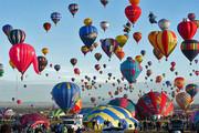فیلم و عکس | بزرگترین جشنواره بالنسواری جهان در آسمان فرانسه