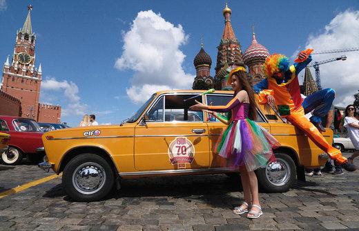 رالی خودروهای کلاسیک در مسکو