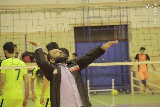 امام جمعه والیبالیست در شهرستان لنگرود