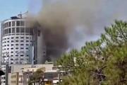 فیلم | آتشسوزی هتل آسمان شیراز