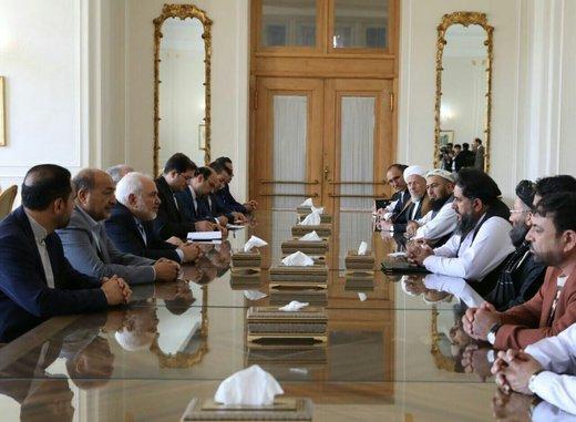ظريف يستقبل رئيس مجلس الشيوخ الأفغاني