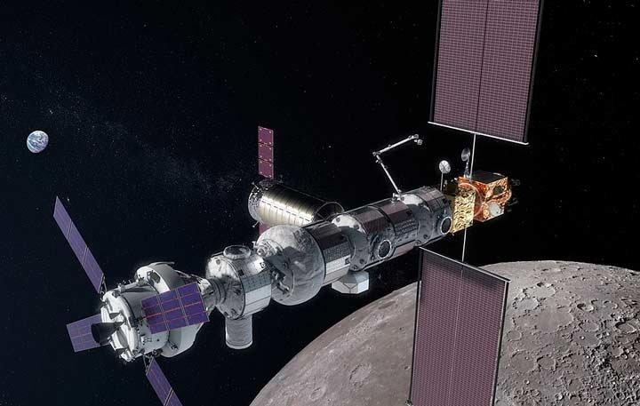 تصویر مفهومی که سکوی مداری ماه- دروازه