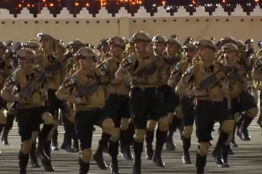 فیلم | تمرین نظامی نیروهای امنیتی عربستان برای مناسک حج