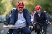 تصاویر | رکابزنی مدیران رسانهها با شهردار تهران
