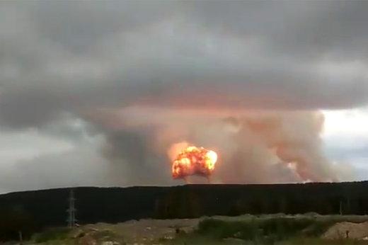 فیلم   انفجار مهیب در زاغه مهمات روسیه