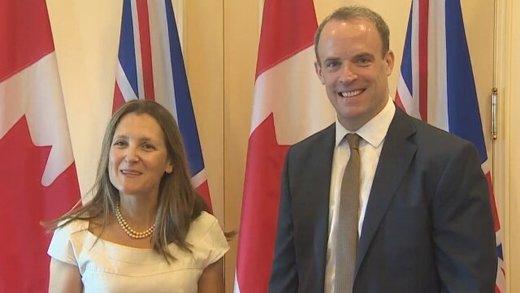 وزرای خارجه انگلیس و کانادا درباره ایران گفتوگو کردند