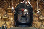 فیلم | گردگیری مجسمه غولپیکر بودا در ژاپن