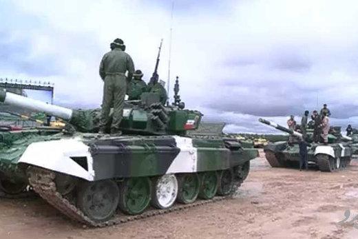 فیلم   قدرتنمایی تانک ایرانی در میدان مسابقات بینالمللی نظامی روسیه