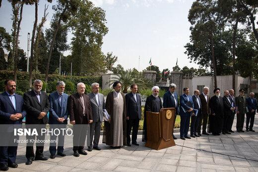 حواشی حیاط دولت با حضور رئیس جمهور