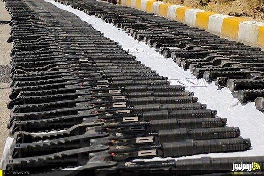 کشف ۲۰۰ قبضه سلاح شکاری در مرزهای آذربایجانغربی