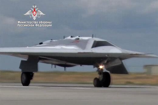فیلم   اولین تصاویر منتشرشده از جنگنده بدون سرنشین روس
