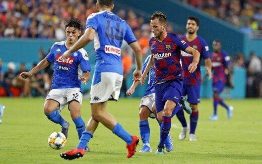 برد بارسلونا مقابل ناپولی در غیاب مسی