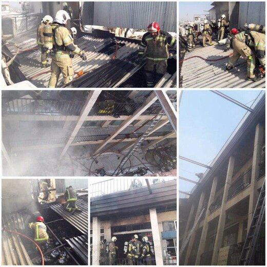 آتشسوزی در بازار تهران/ ۳۰ نفر نجات یافتند
