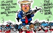 ترامپ مقصر کشتار اخیر را شناسایی کرد!