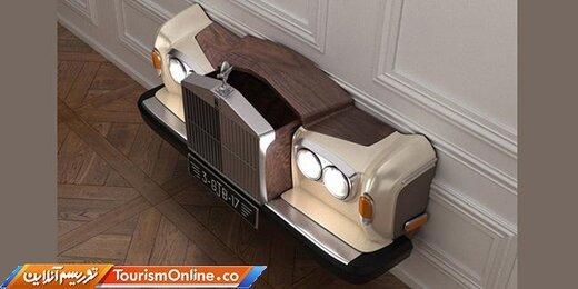 مبلمان جالب با استفاده از خودروهای کلاسیک