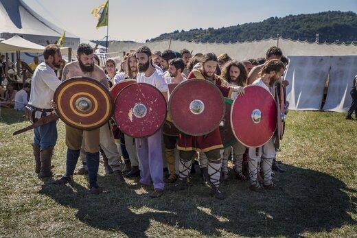 جشواره جنگجویان چادرنشین اروپایی در ایتالیا