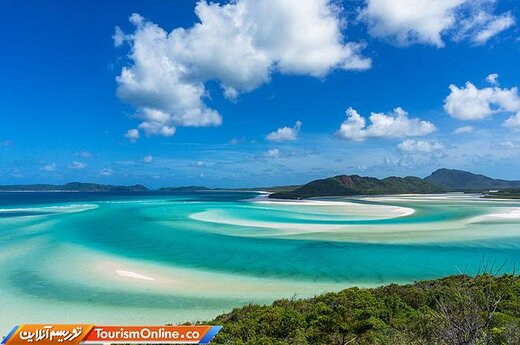 دو: ساحل بهشت سفید (وایت هون) در جزیره ویتساندی-استرالیا-