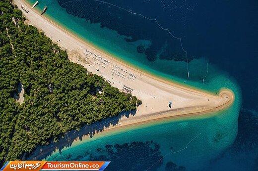 یک: ساحل شاخ طلایی در براچ –کرواسی-