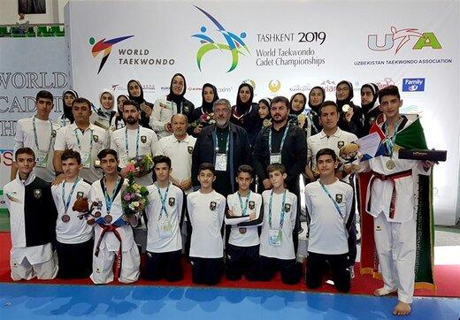 شاهکار دختران تکواندو ایران با کسب عنوان قهرمانی