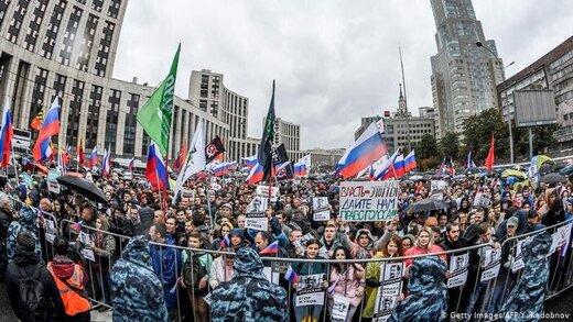دهها هزار مخالف پوتین در مسکو تظاهرات کردند