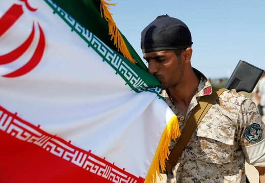 یک تفنگدار دریایی ایران در مسابقات بینالمللی ارتشهای جهان در ساحل دریای بالتیک