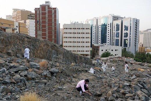 جمعآوری سنگ برای رمی جمرات