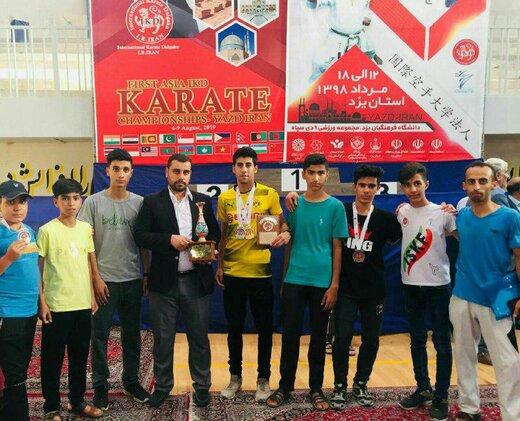 کسب 9 مدال و کاپ اخلاق مسابقات آسیایی  توسط  کاراته کاهای استان چهارمحال وبختیاری