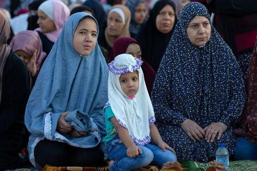 اقامه نماز عید قربان در شهر امان اردن