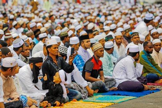 اقامه نماز عید قربان در شهر کوالالامپور مالزی