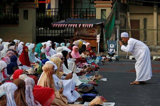 اقامه نماز عید قربان در شهر جاکارتا اندونزی