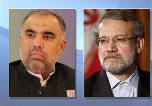 رئيسا برلماني ايران وباكستان يبحثان هاتفيا بشان تطورات كشمير