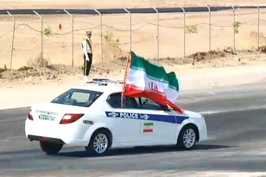 فیلم | مسابقه پلیس ایران با دنا پلاس توربو ایران خودرو