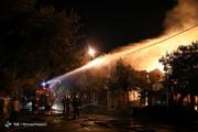 تصاویر | آتش سوزی بزرگ در انبار چوب مشهد