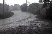 فیلم | رگبار شدید باران؛ دقایقی پیش در گنبدکاووس
