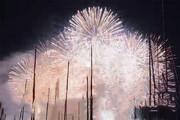 فیلم | آتشبازی بر فراز دریاچه شهر ژنو