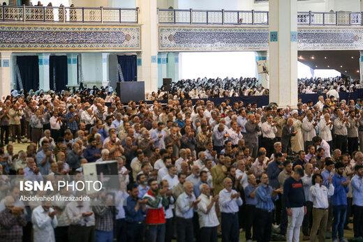 نماز عید سعید قربان اقامه شد/حضور مقامات لشکری و کشوری در مصلی امام خمینی