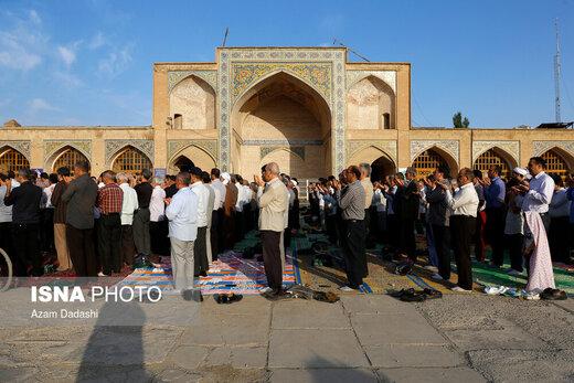 اقامه نماز عید قربان در مسجد النبی قزوین