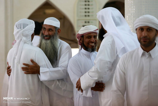 دید و بازدید هموطنان اهل سنت جزیره کیش در روز عید قربان