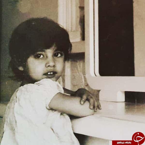 عکسی از دوران کودکی آناهیتا همتی