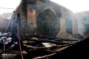 فیلم و عکس   آتشسوزی در بازار ۴۰۰ساله قم