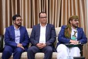 تصویری از دیدار سخنگوی جنبش انصارالله یمن با رهبر انقلاب