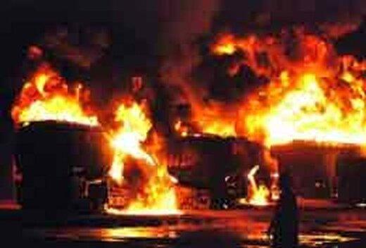 انفجار خودروی فوق لاکچری در بزرگراه